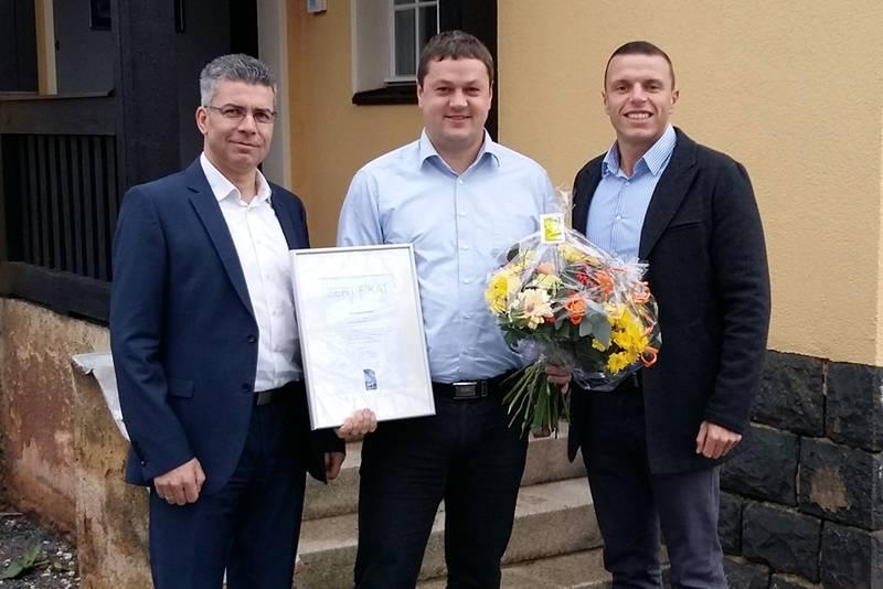 Qualitätssiegel-Übergabe an Herrn Grüner - EAD Zeulenroda